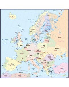 4M scale Europe Political Simple Map with large text