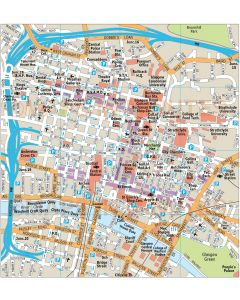 Glasgow city map in Illustrator CS or PDF format