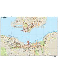 Hong Kong city map in Illustrator CS or PDF format