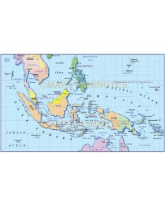 Digital vector Indonesia/Malaysia Political Simple Vector Map with full drop shadow turned on