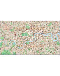 London Large Base map @10,000 scale in Illustrator CS format full area