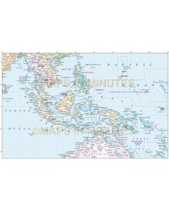 Malaysia/Indonesia Political Vector Map with insets in Illustrator CS formats