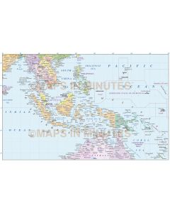 Indonesia/Malaysia Political vector map @10M scale