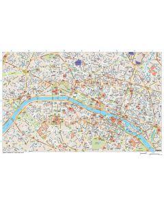 Paris city map in Illustrator CS or PDF format
