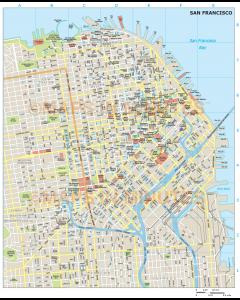 San Francisco city map in Illustrator CS or PDF format