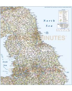 Vector England map. Digital North England County, Road and Railways Map. Fully layered and editable in Illustrator & PDF formats.