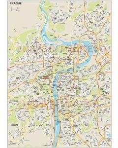 Prague city map in Illustrator CS or PDF format