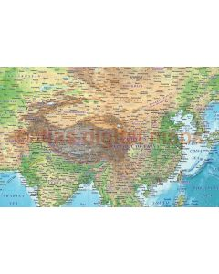 Regular style Contemporary Canvas World Wall Map 60 inches wide x 38 inches deep. Up-to-date information, great educational  resource.