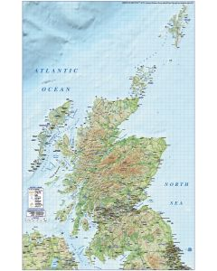 Digital vector map of Scotland Regions, Road & Rail with Regular relief background @1M scale. Royalty free