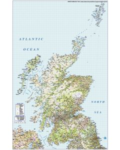 Scotland vector road & rail map including the Northern Isles of Orkney & Shetland illustrator AI editable digital format @750k scale.