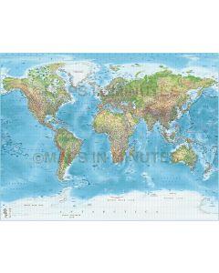 Digital vector detailed World map in illustrator AI fornat, political fills plus high resolution 300dpi background.