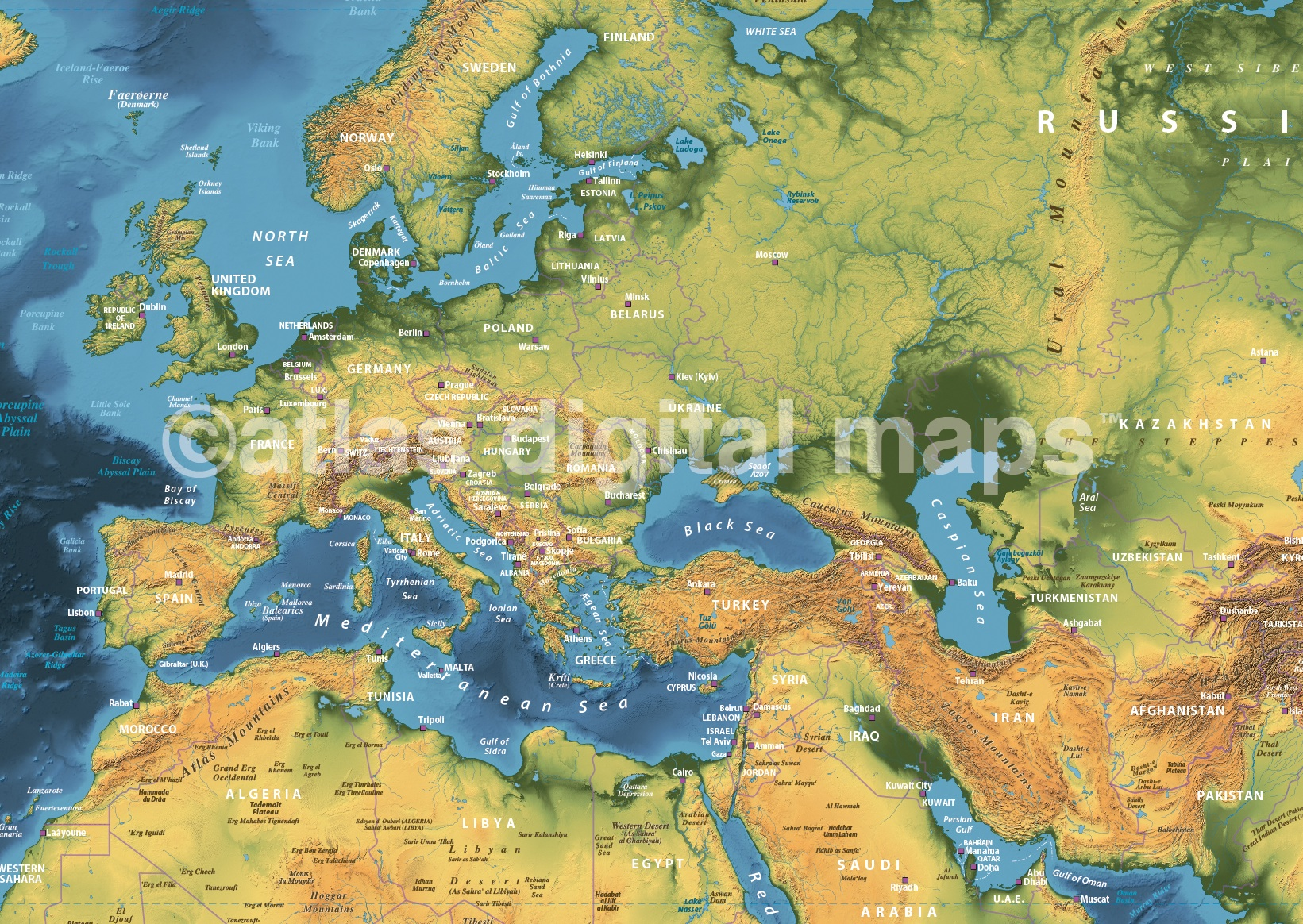 Dark style contemporary canvas world wall map 72 x 38 canvas world map framed gumiabroncs Images