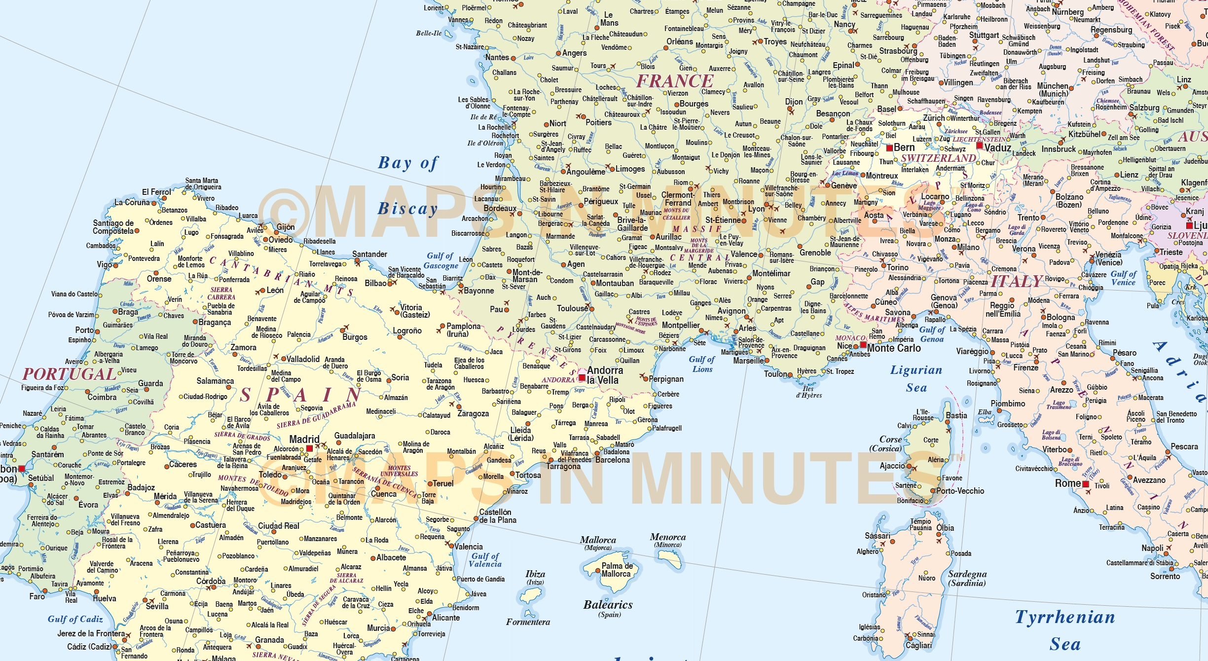 Map Of Europe Pdf