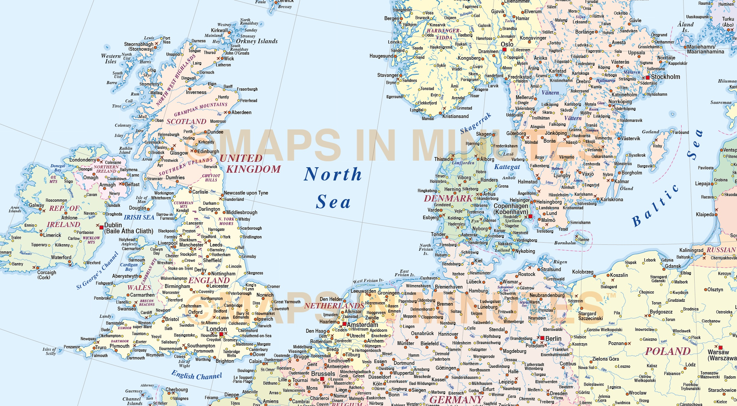 Downloadable map of europe basic map of europe unlabeled map of google vector europe map political illustrator and pdf formats on basic map of sciox Image collections