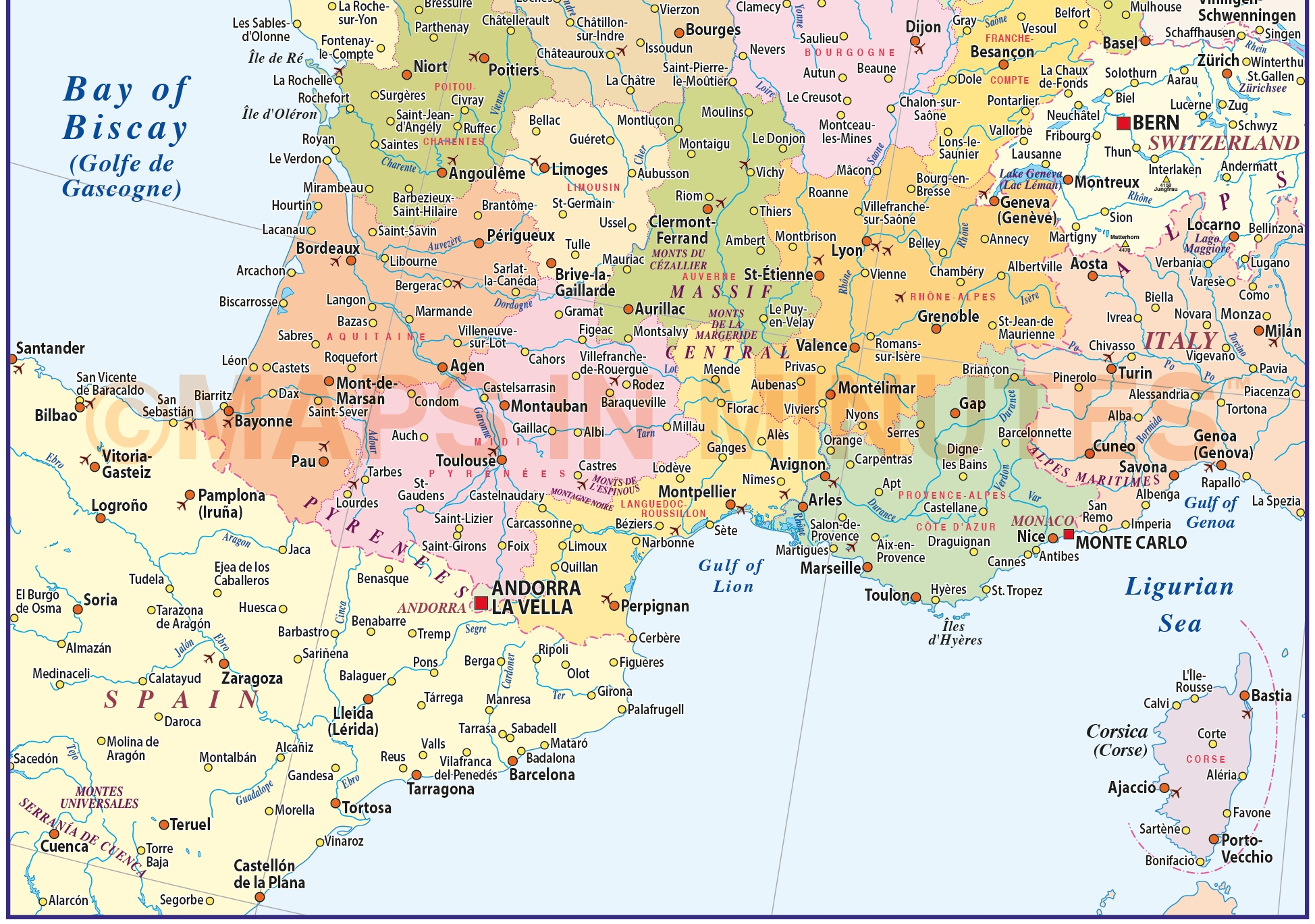 Map Of France Pdf.France Illustrator Vector Map