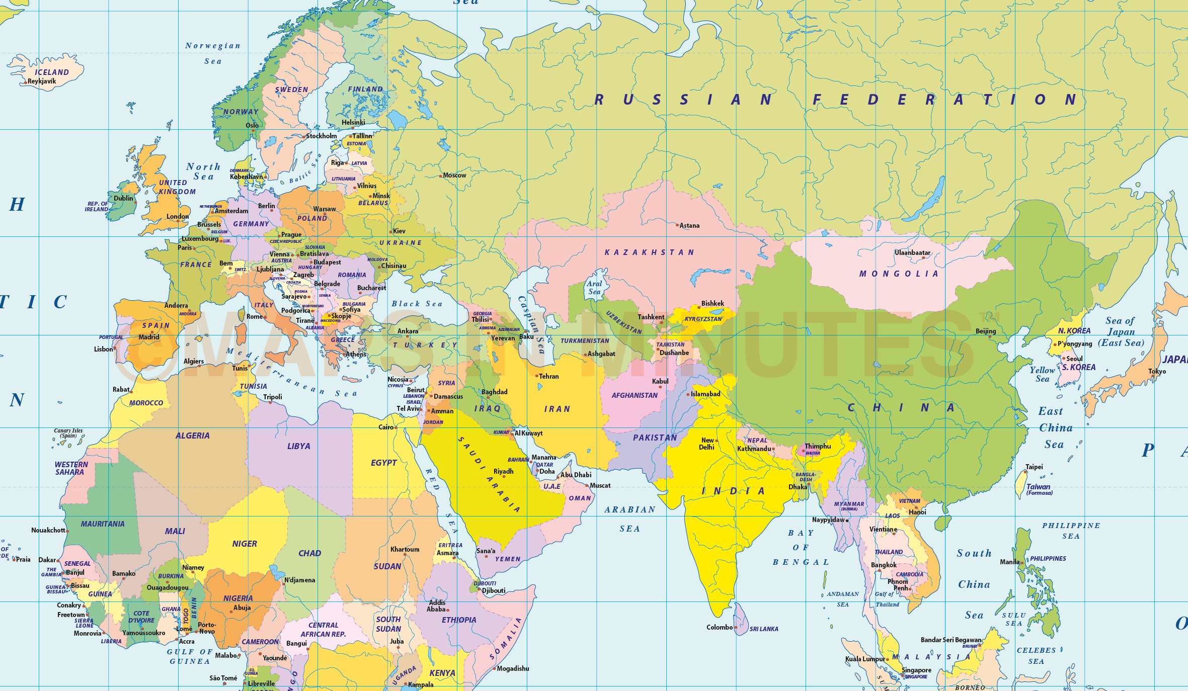 Vector world political map in the gall projection uk centric in vector world map gall projection detail regular colours gumiabroncs Choice Image