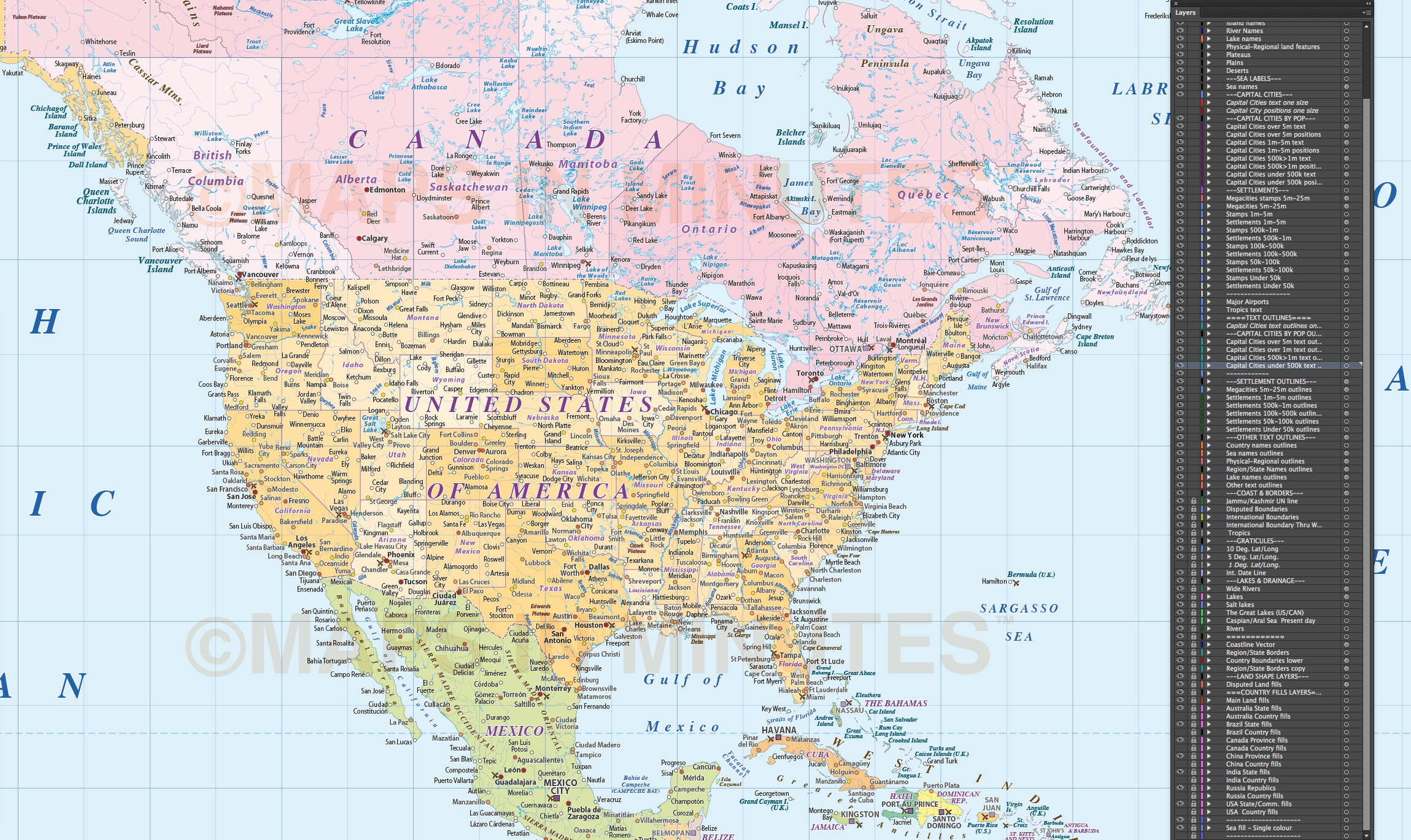 political map of north america pdf