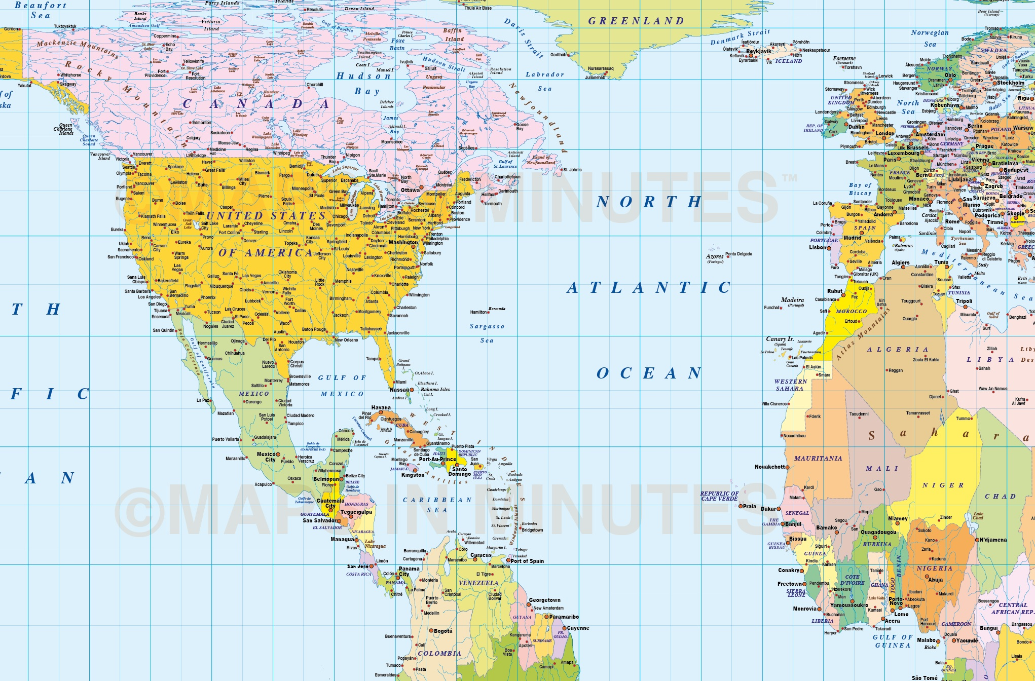 Medium scale digital vector world map in gall orthographic digital vector world map in gall orthographic projection detail fully layered editable and royalty gumiabroncs Gallery