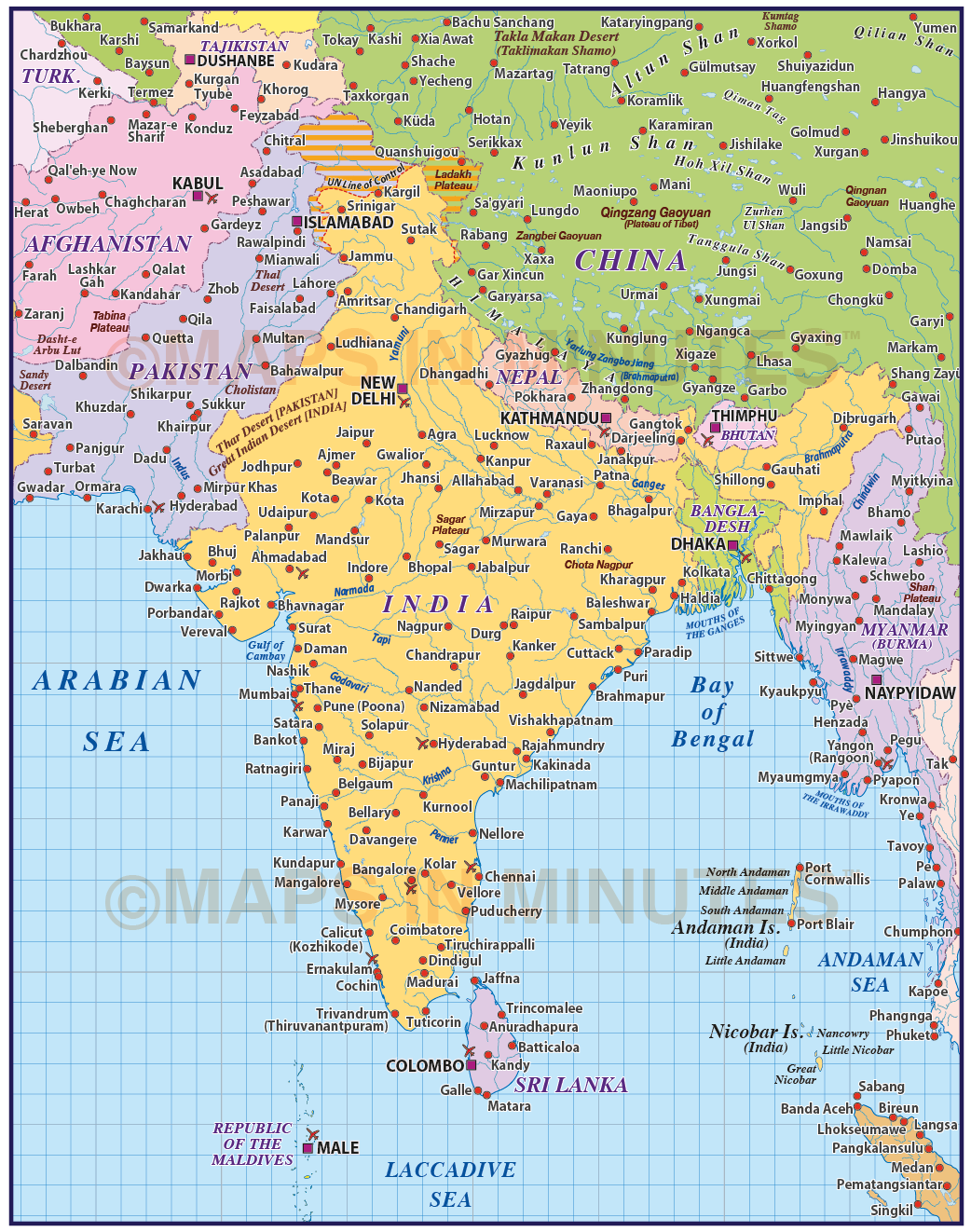India Map Pdf Vector India Country Map @10m scale in Illustrator and PDF format India Map Pdf
