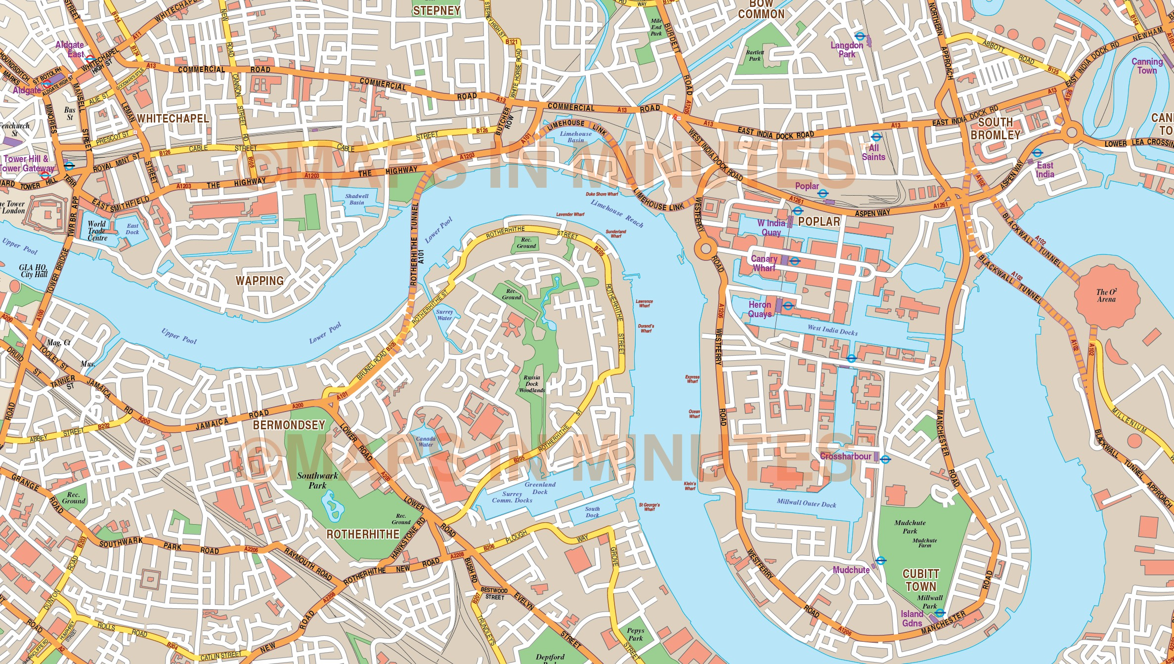 London Large Base map 10000 scale in Illustrator CS format