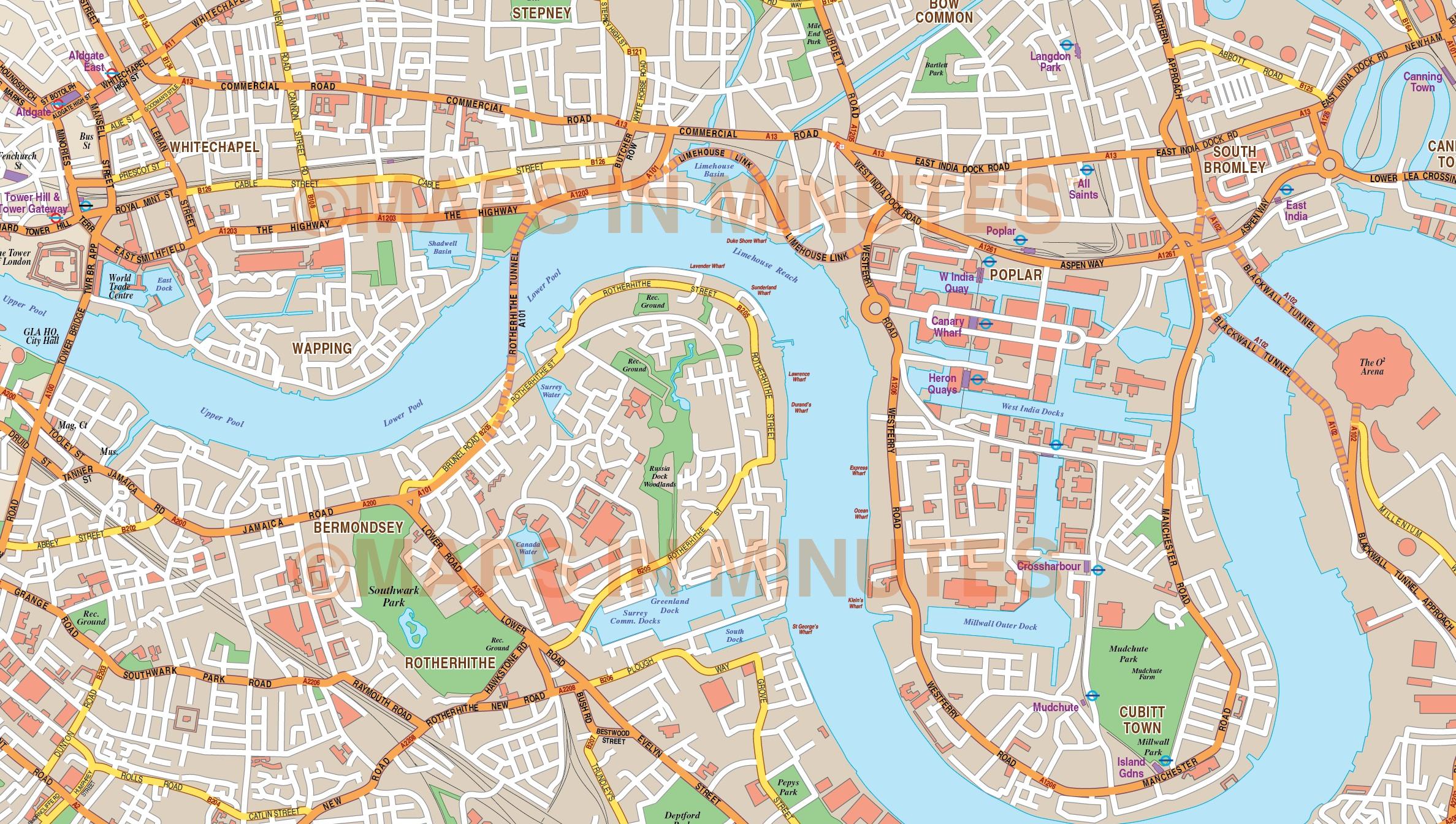 Basic Map Of London.London Large Base Map 10 000 Scale In Illustrator Cs Format