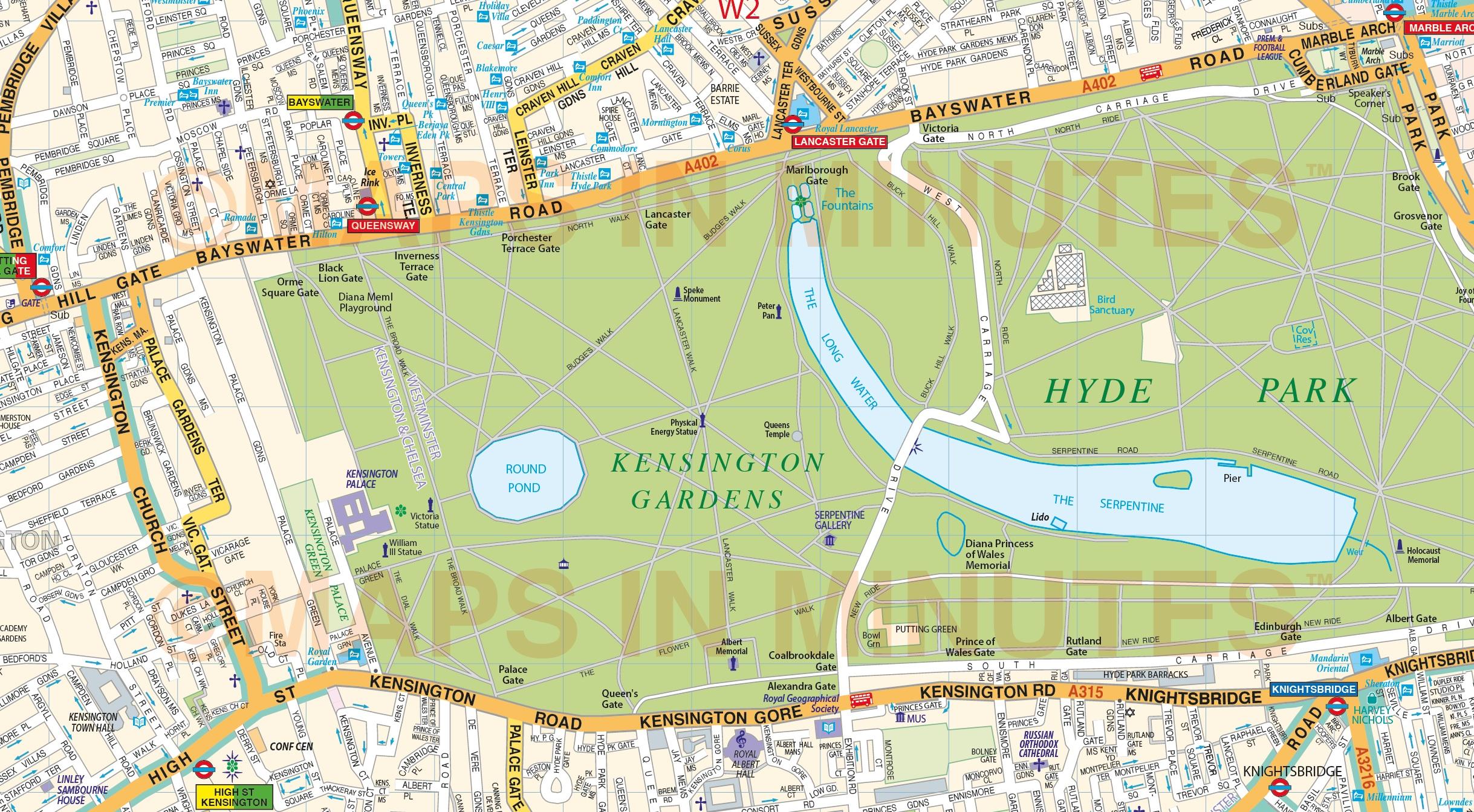 Vinyl Central London Street Map Large Size 1 2m D X 1 67m W