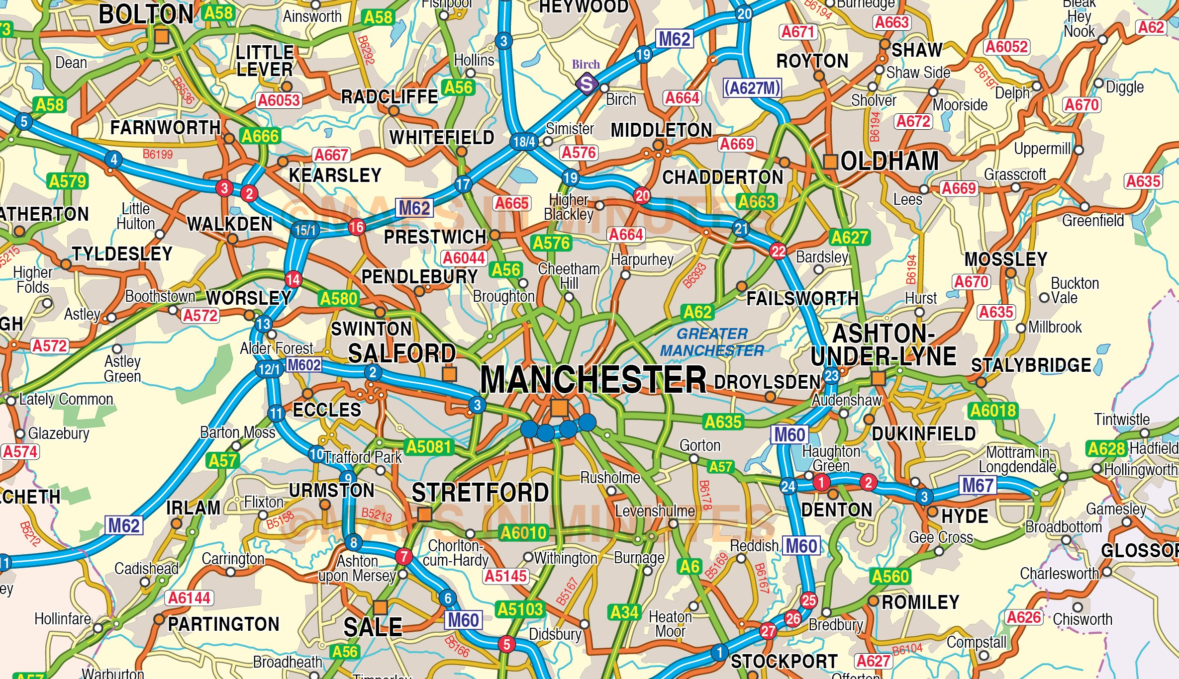 Maps Liverpool Manchester