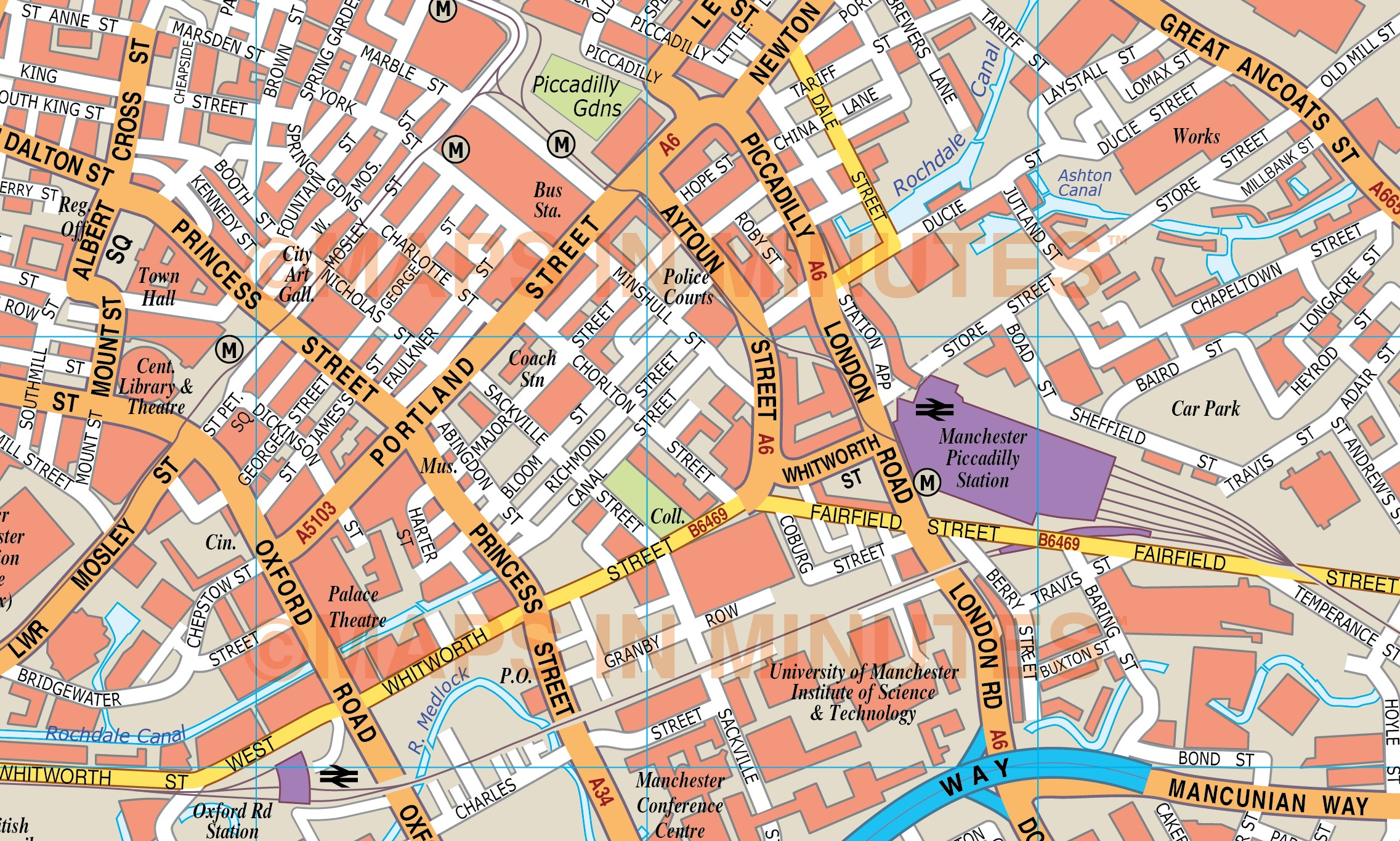 royalty free manchester illustrator vector format city map