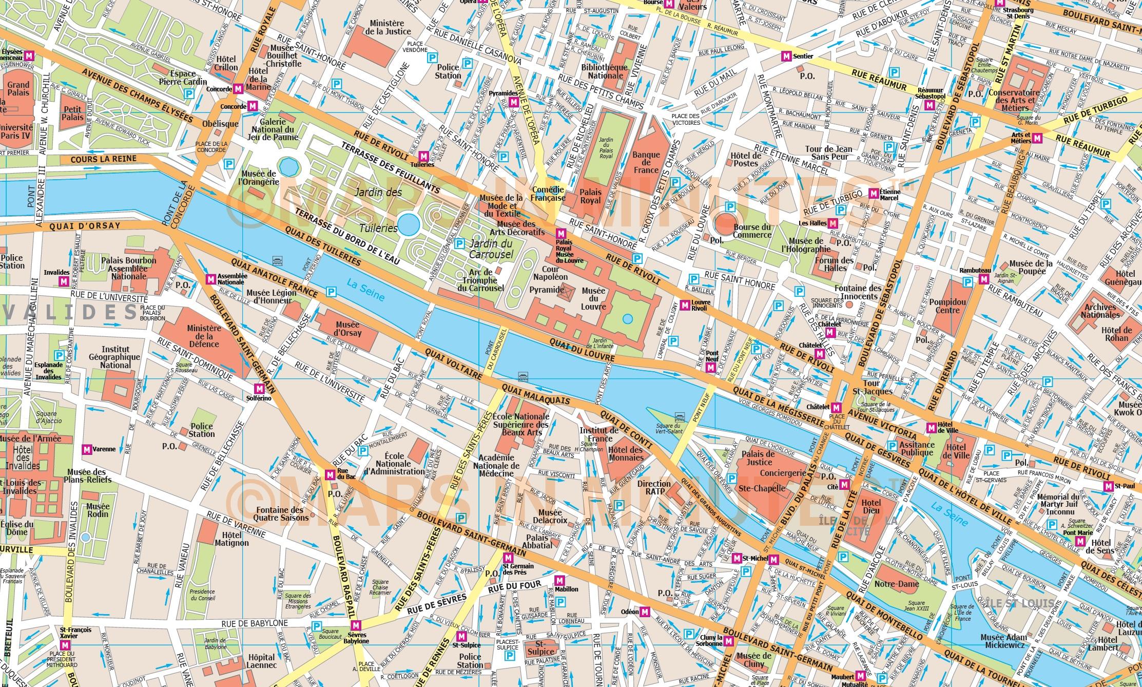 royalty free paris illustrator vector format city map