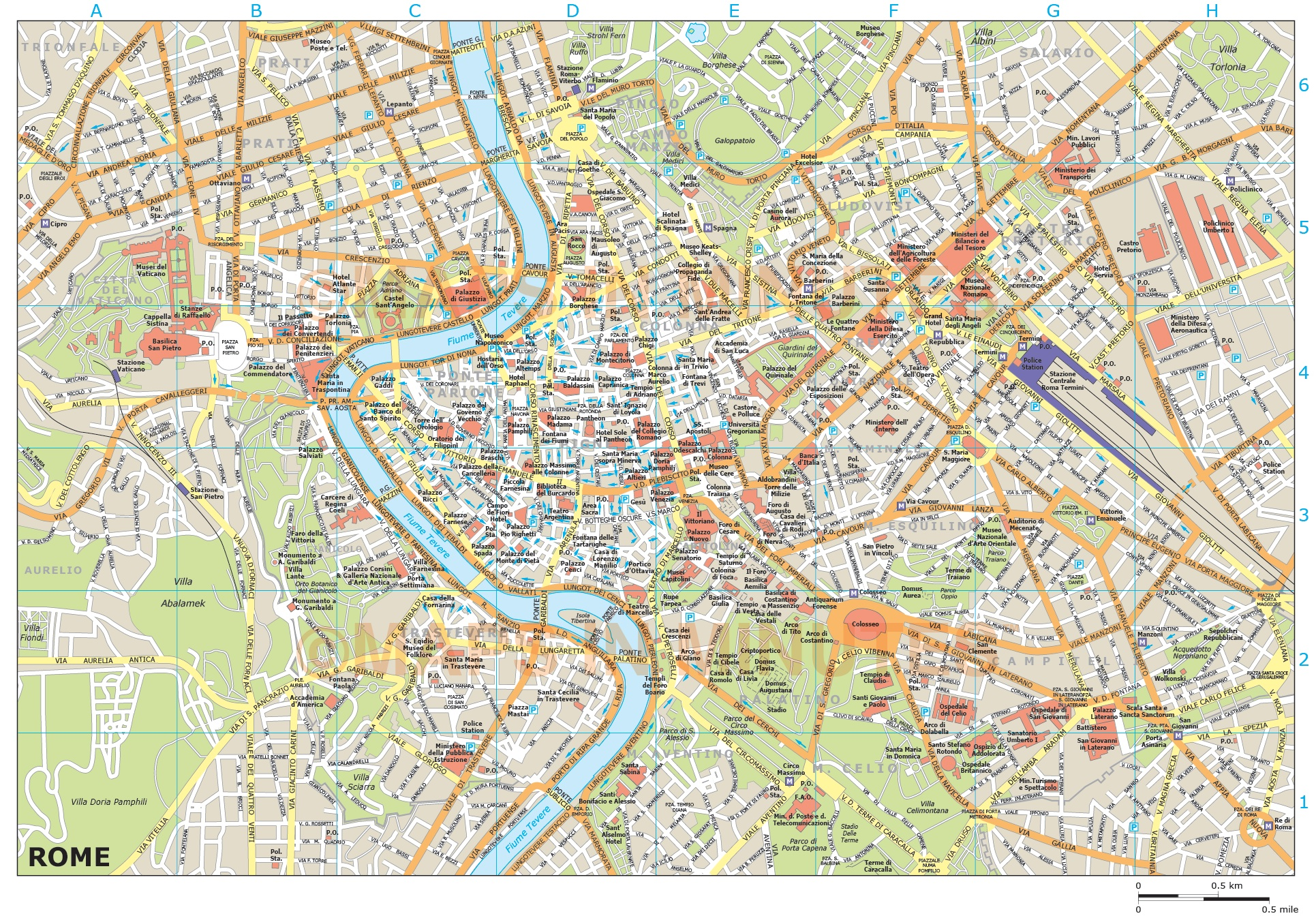 Maps related to Rome