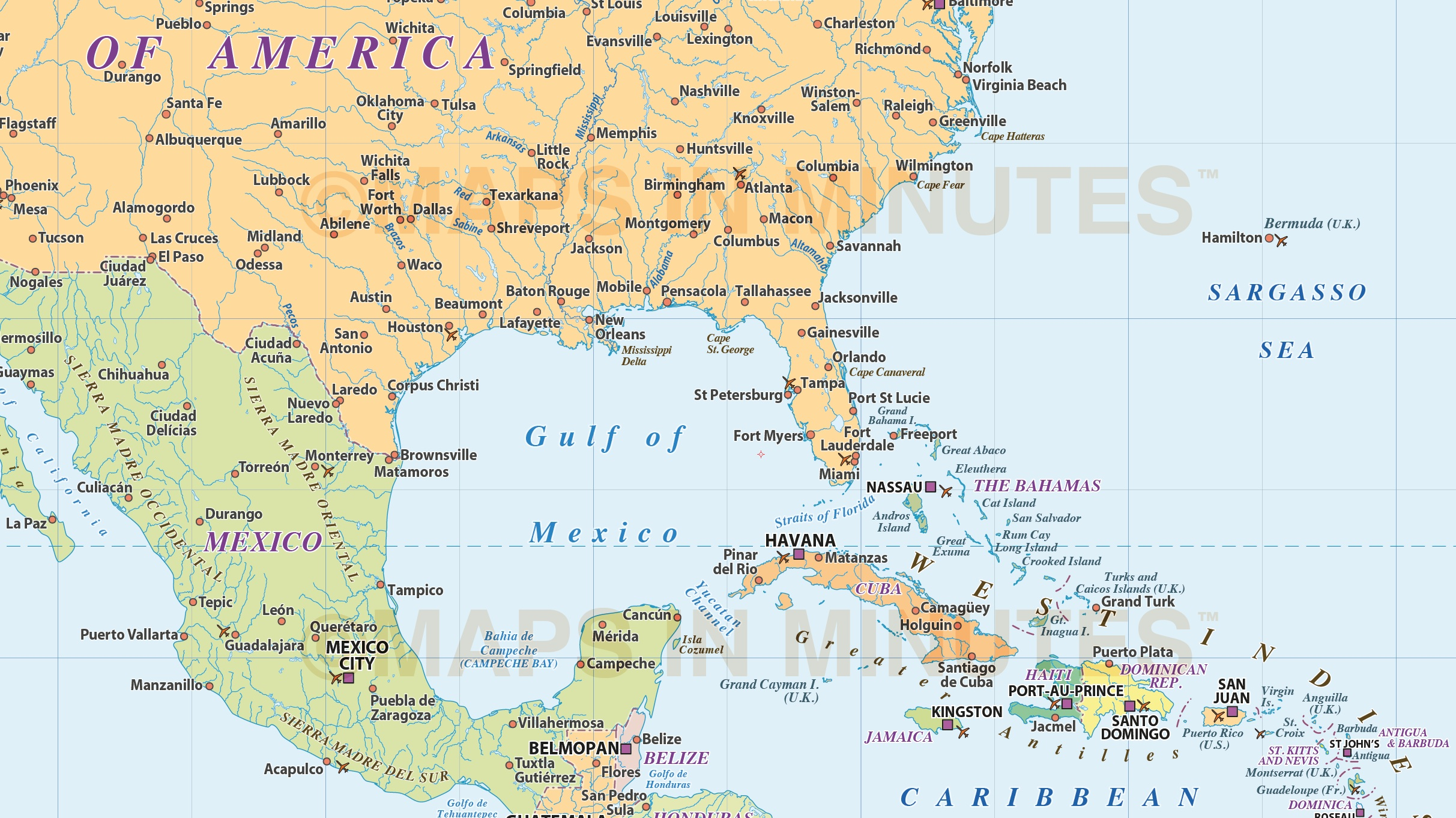 North america region simple country map 10000000 scale in north central america region simple country map in illustrator formats sciox Gallery