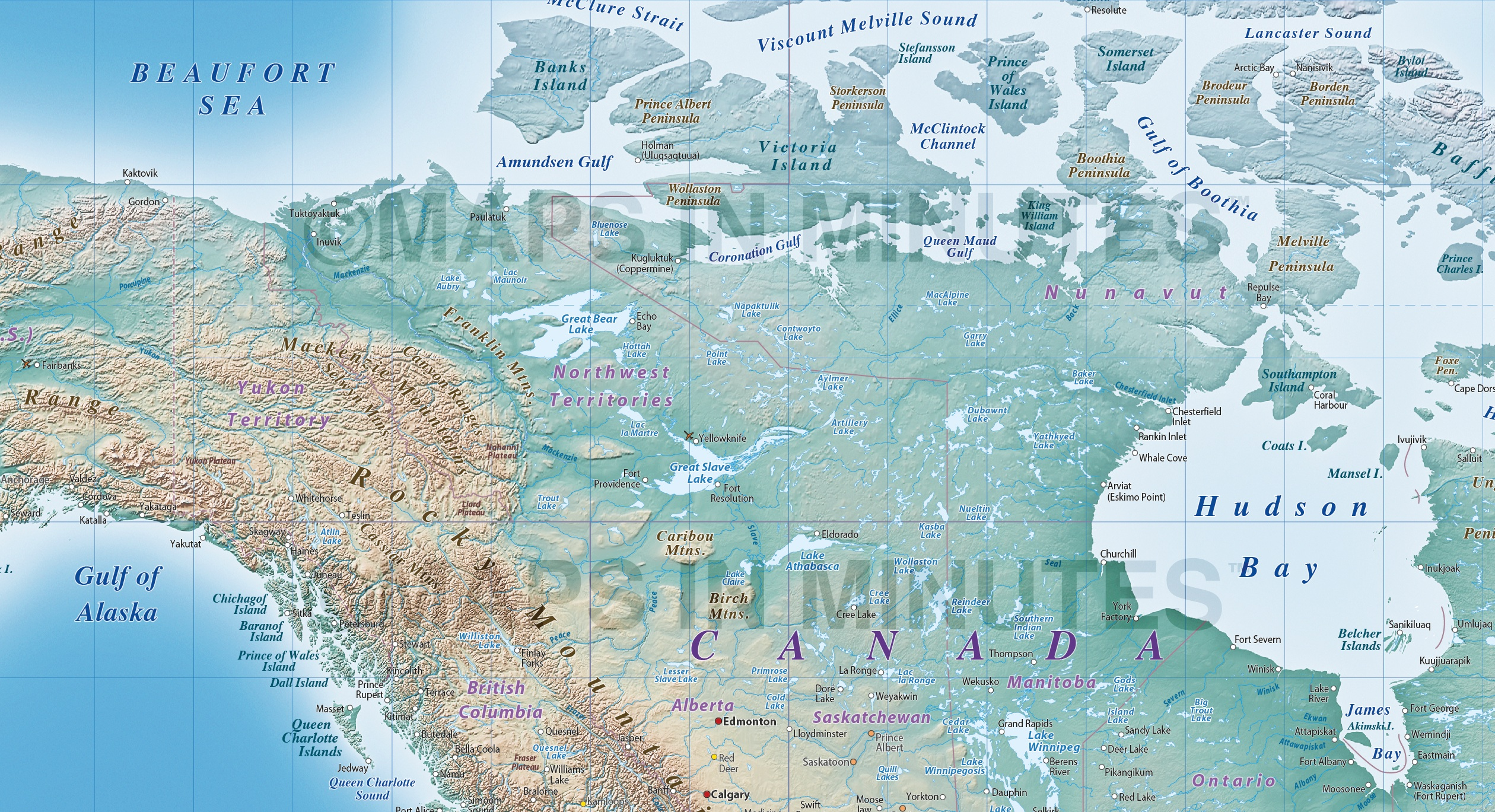 Digital Vector Political World Map With Natural Earth Relief - World natural map