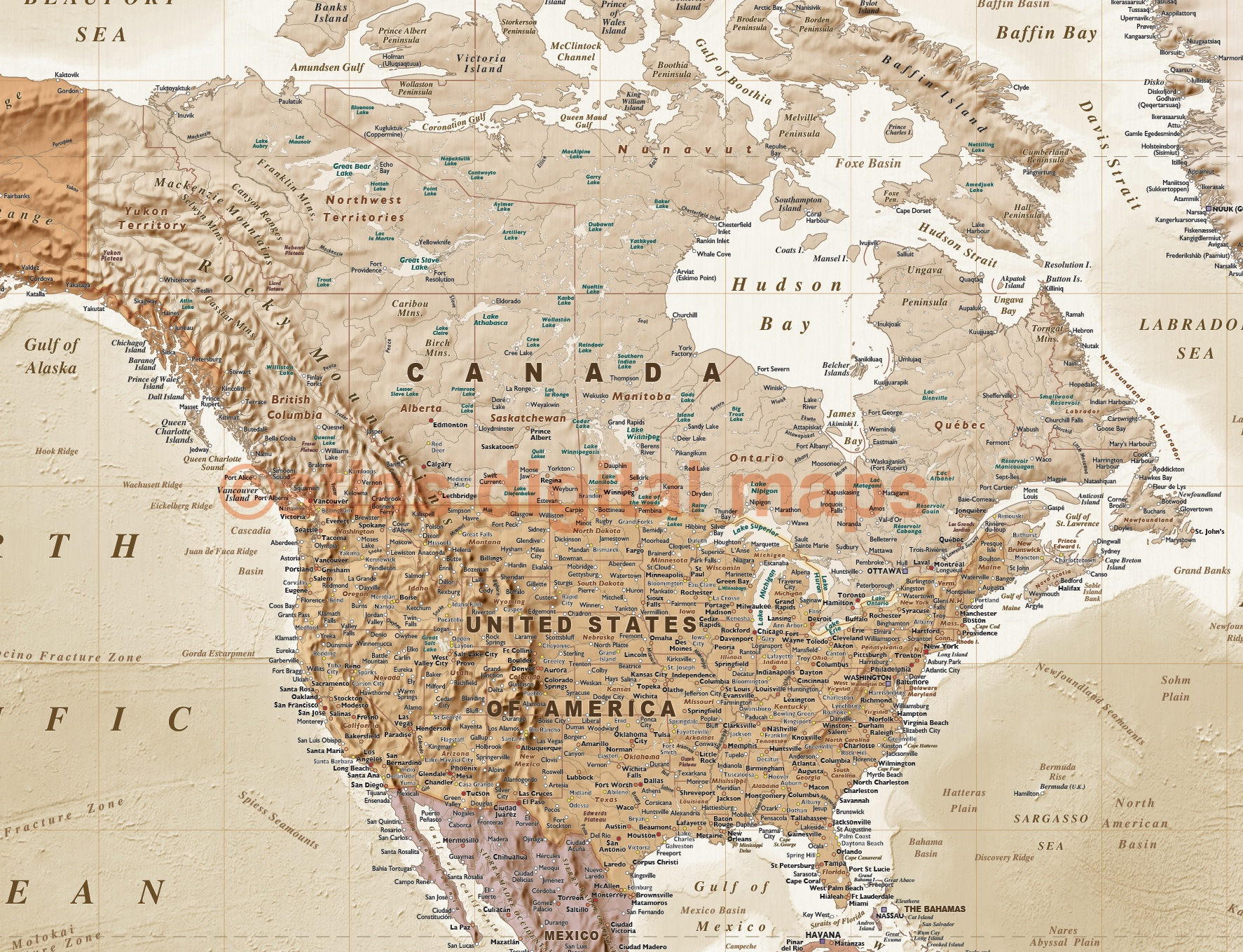 Vinyl World Wall Map Tan And Sand Large Size X - Large world map antique