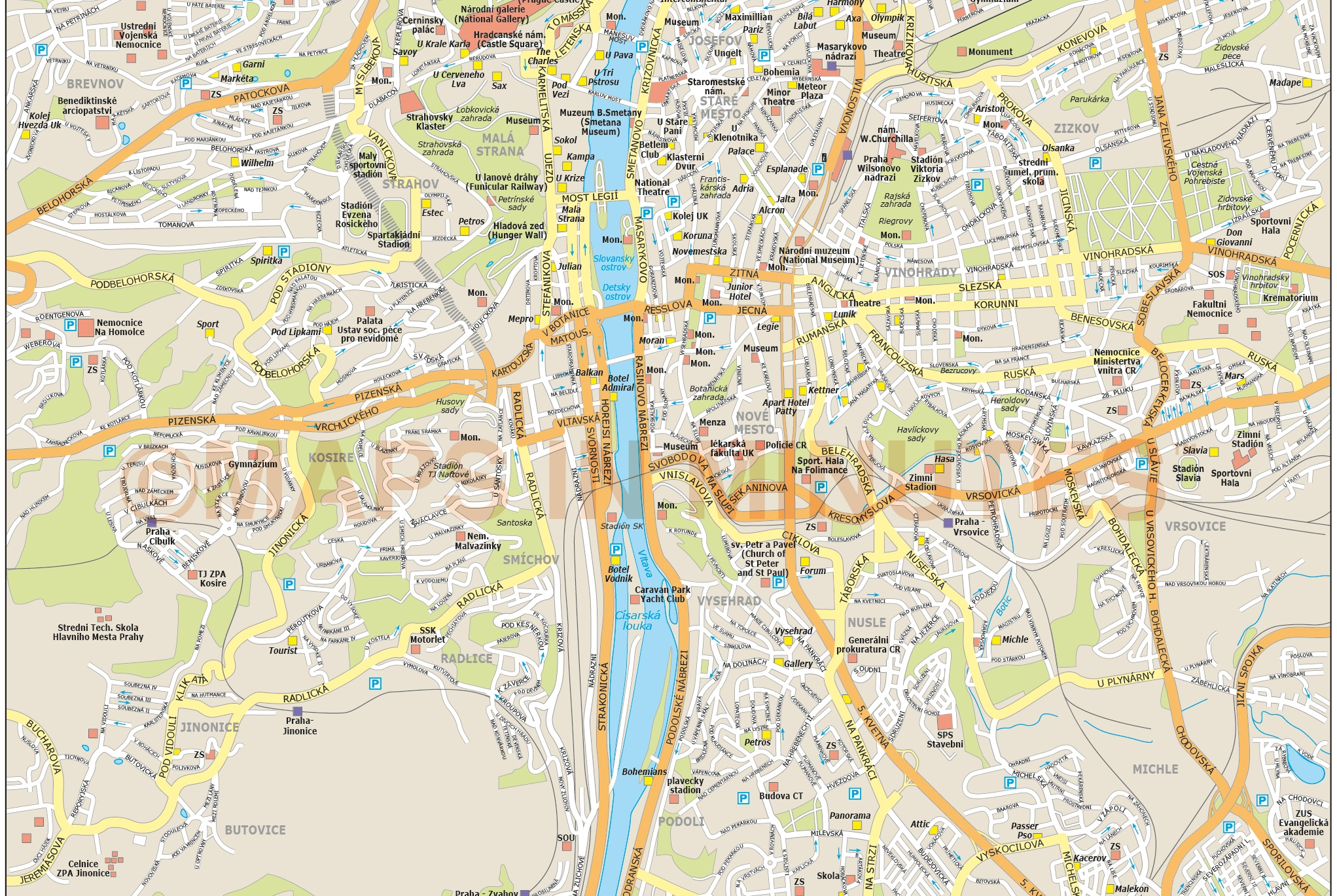royalty free prague illustrator vector format city map on internet map, world map, word map, buenos aires map, print map,