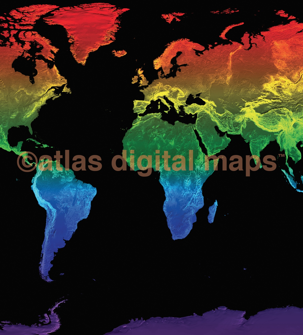 Lgbt Rainbow World Map Canvas Rolled Large Size 60 W X 38 D