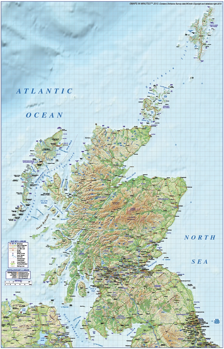 Vector digital map of scotland political regions road and rail digital vector map of scotland regions road rail with regular relief background 1m gumiabroncs Choice Image