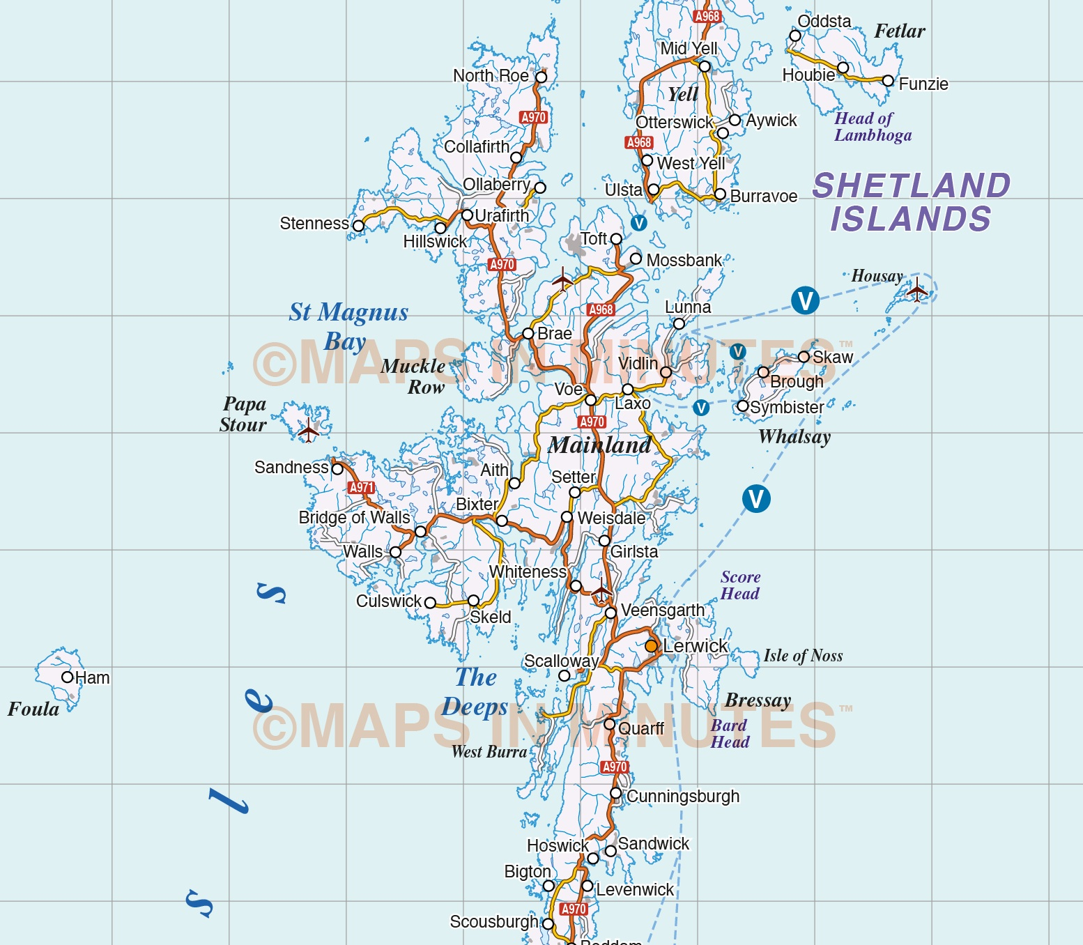 Vector Scotland map Regions Political Road Rail 500000 scale