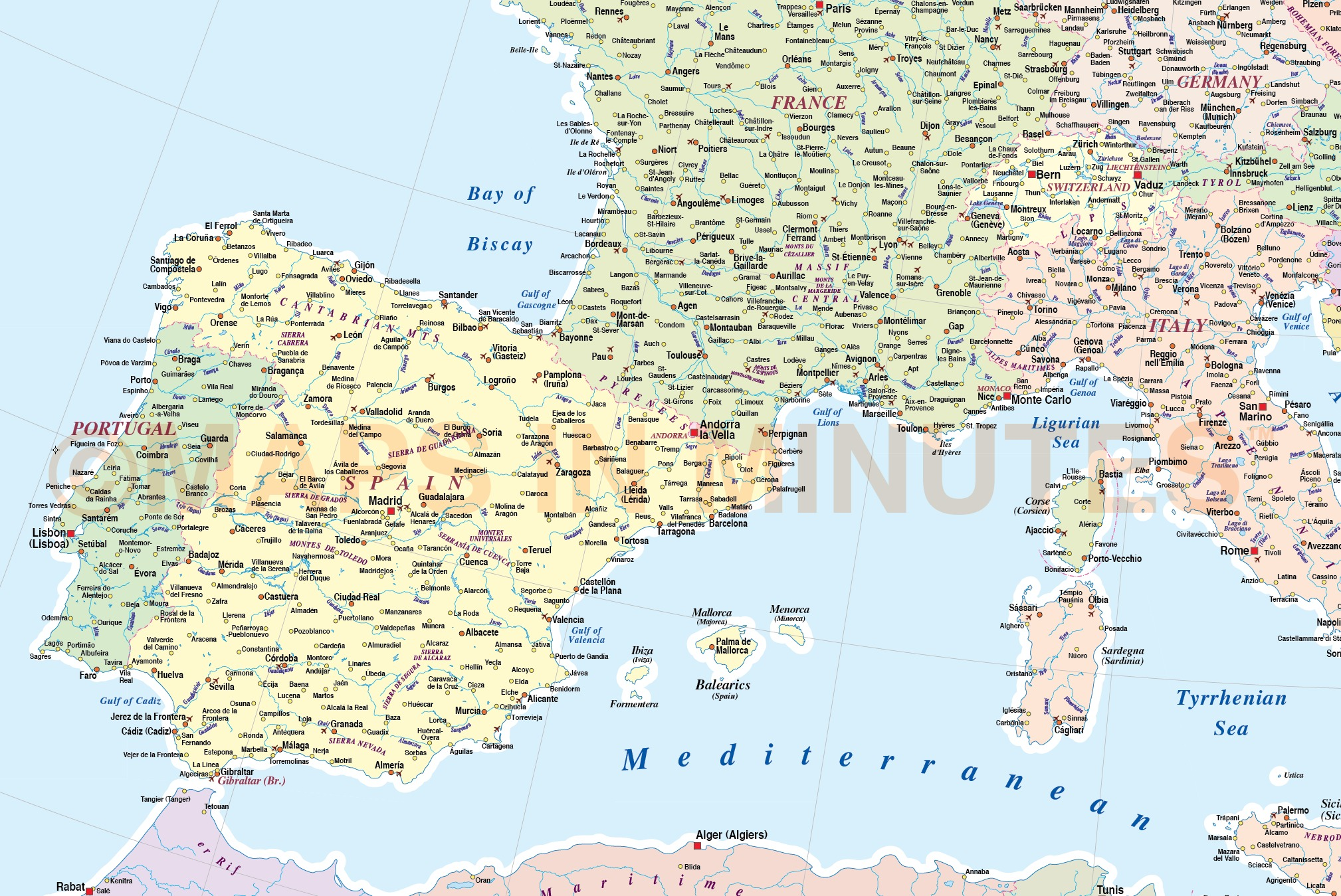 Southern Europe Map
