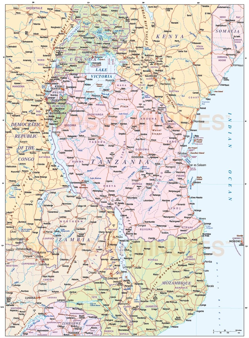 Street map World Political Roads PDF