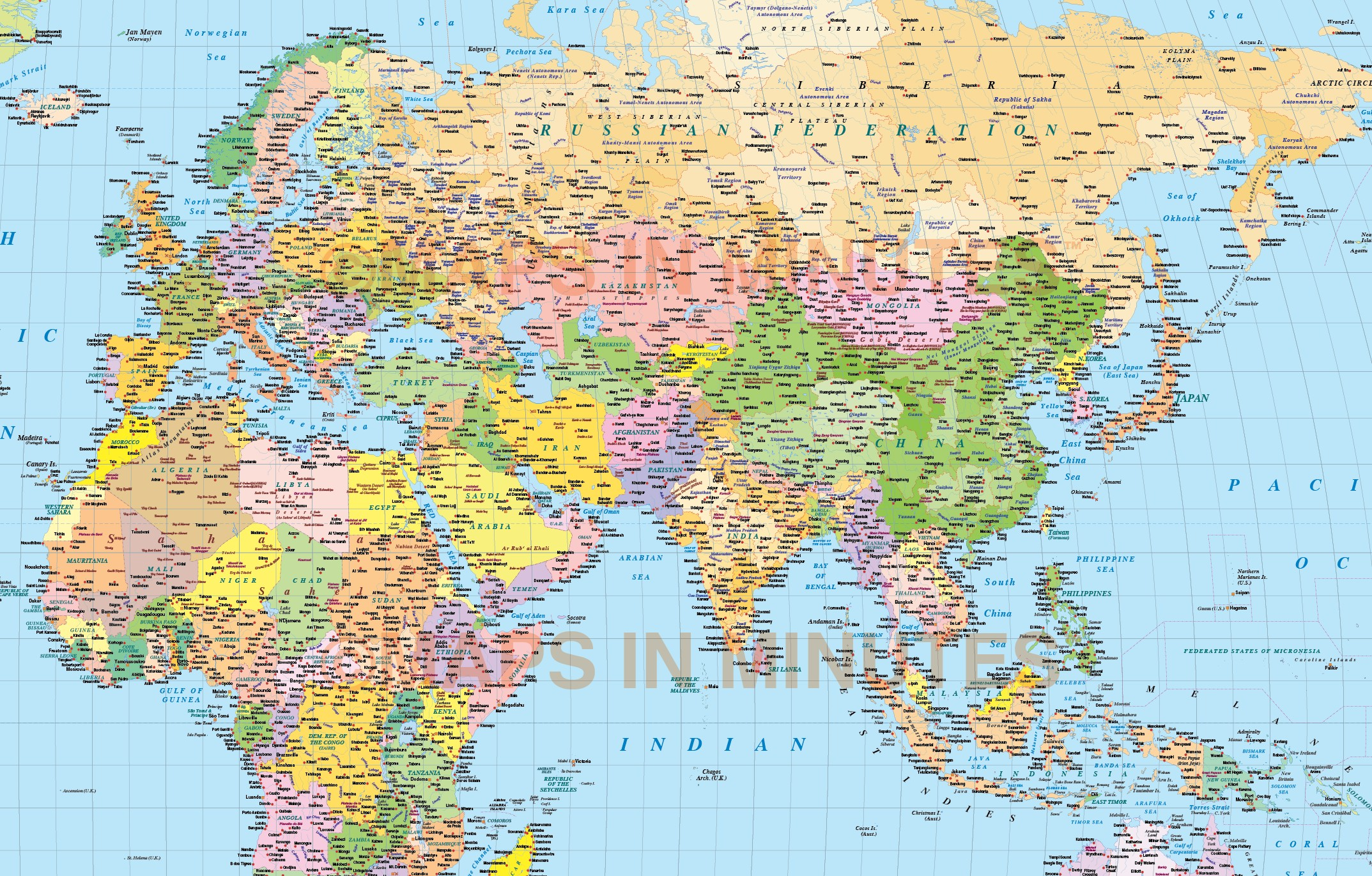 Vector world map times projection political uk centric 10m scale in digital vector world map in times projection political uk 10m scale detail gumiabroncs Gallery
