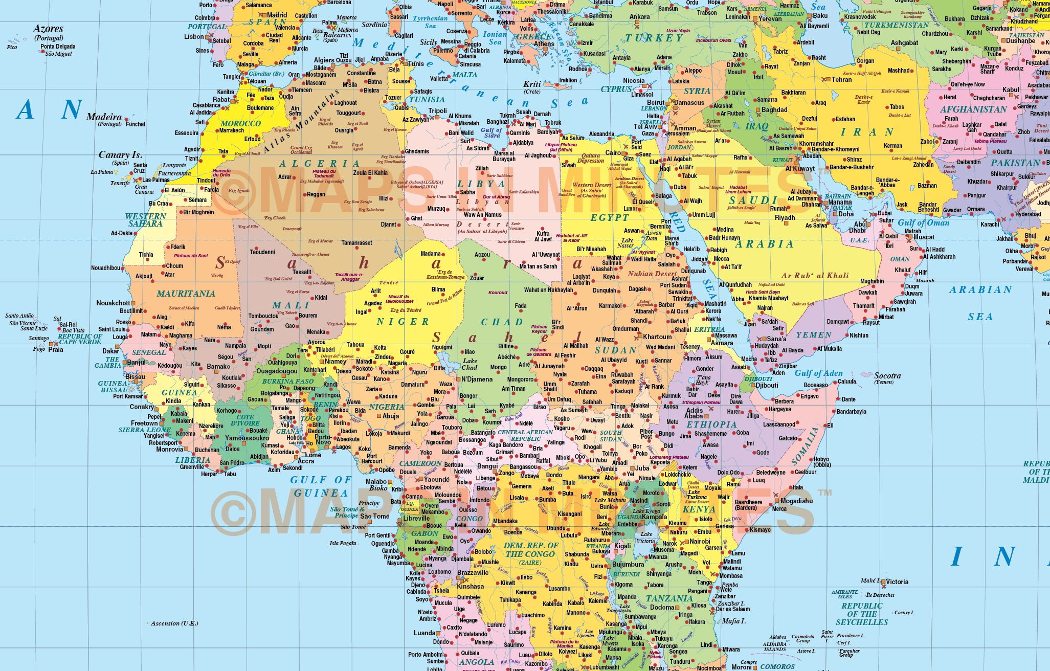 North Africa World Map.Vector World Map Times Projection Political Uk Centric 10m Scale In