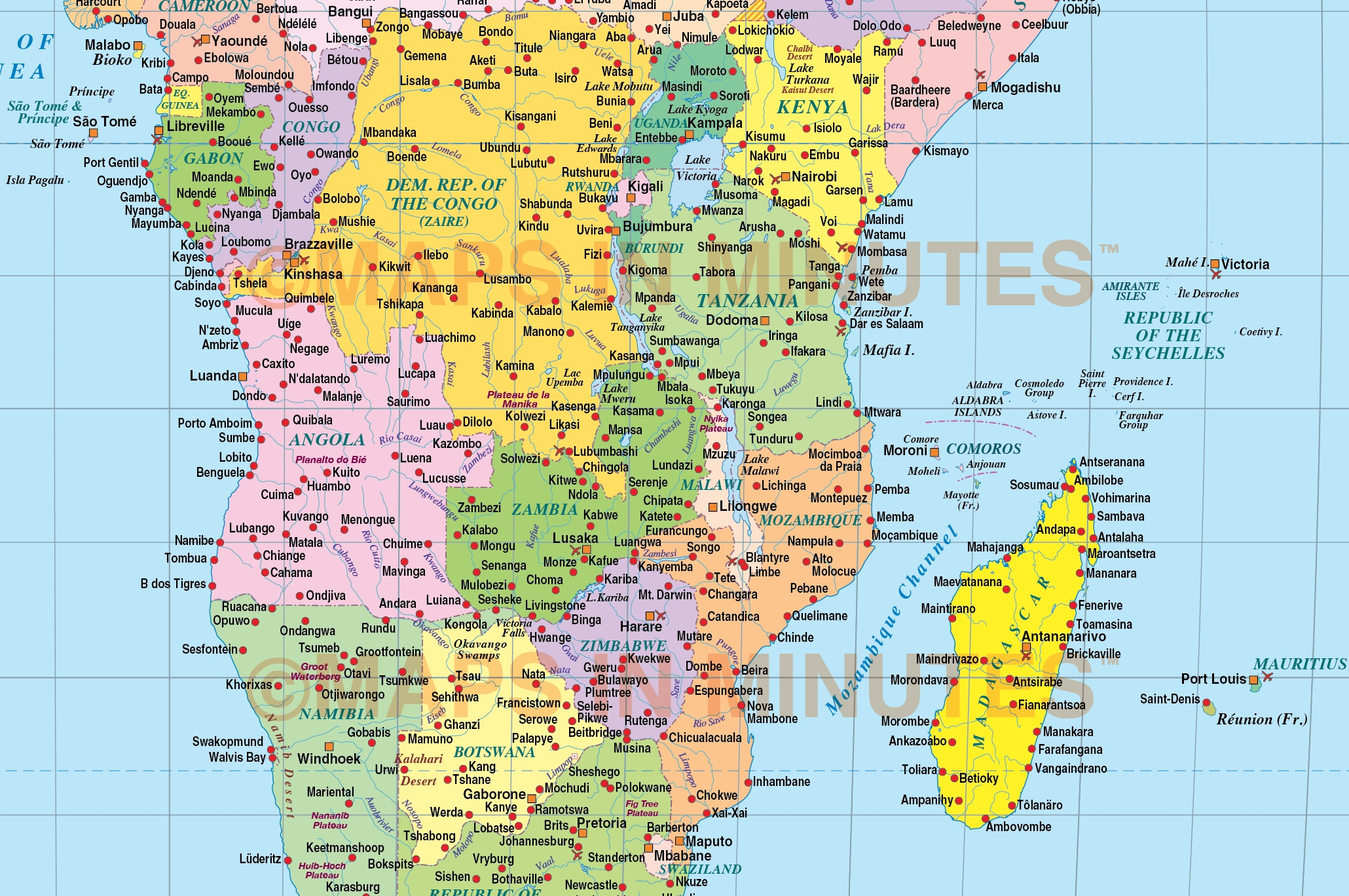 Vector world map times projection political uk centric 10m scale in times projection political world map uk centric 10m scale central africa detail gumiabroncs Gallery