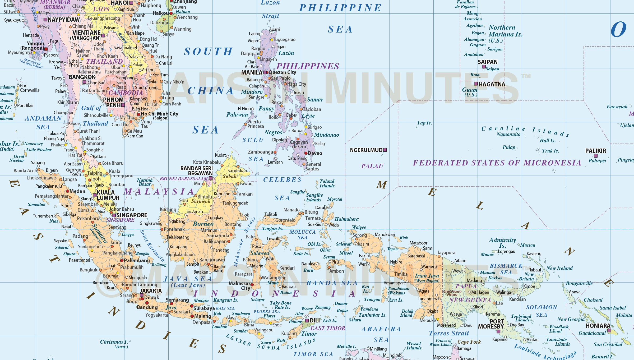 Digital vector world map political gall projection poster size uk more views digital vector map gumiabroncs Choice Image