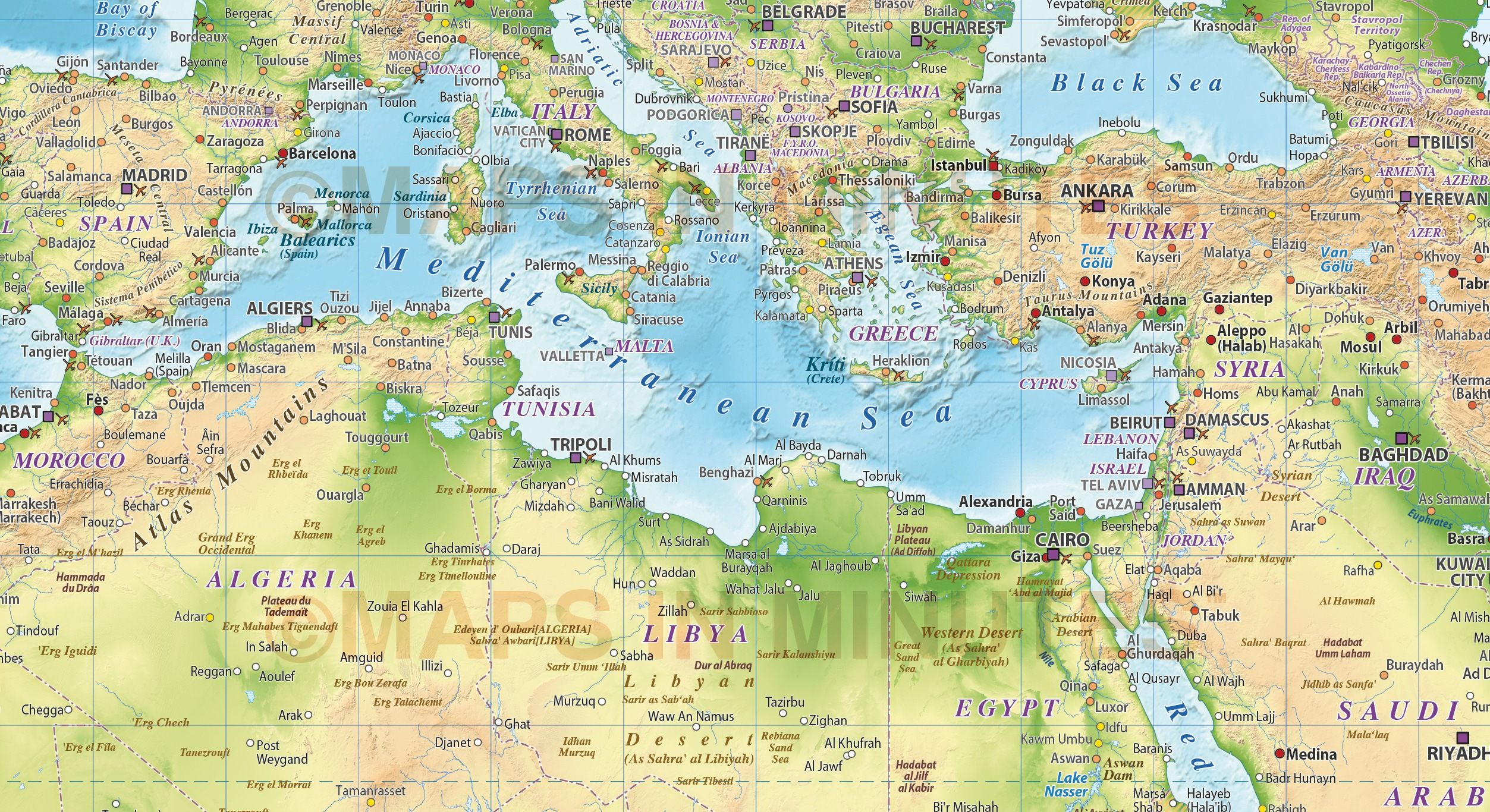 Map Of The World In Detail.Detailed Vector World Map Illustrator Ai Cs Format Political And