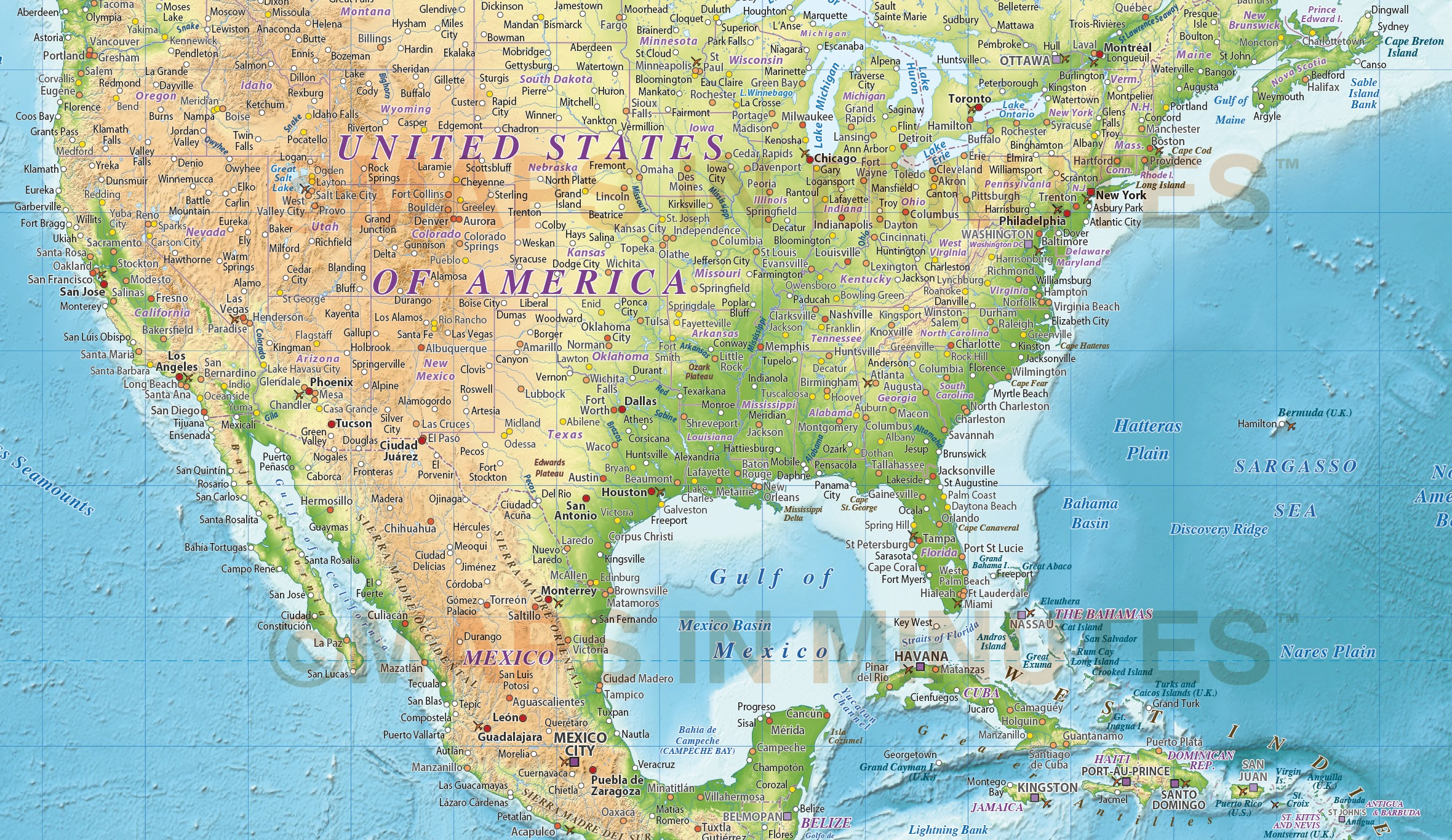 Digital vector political world map with relief terrain for land and vector world relief map united states detail showing relief background without the relief enhancer gumiabroncs Images