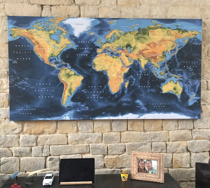 Framed Canvas World map customer picture