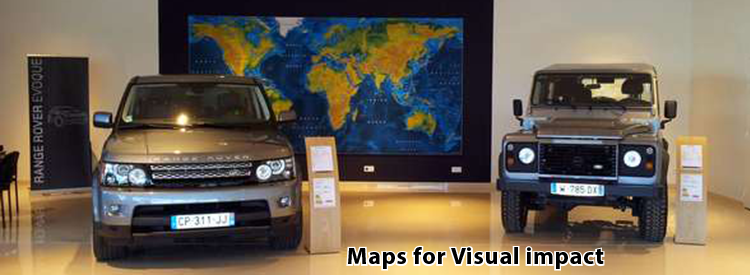 Maps for visual impact